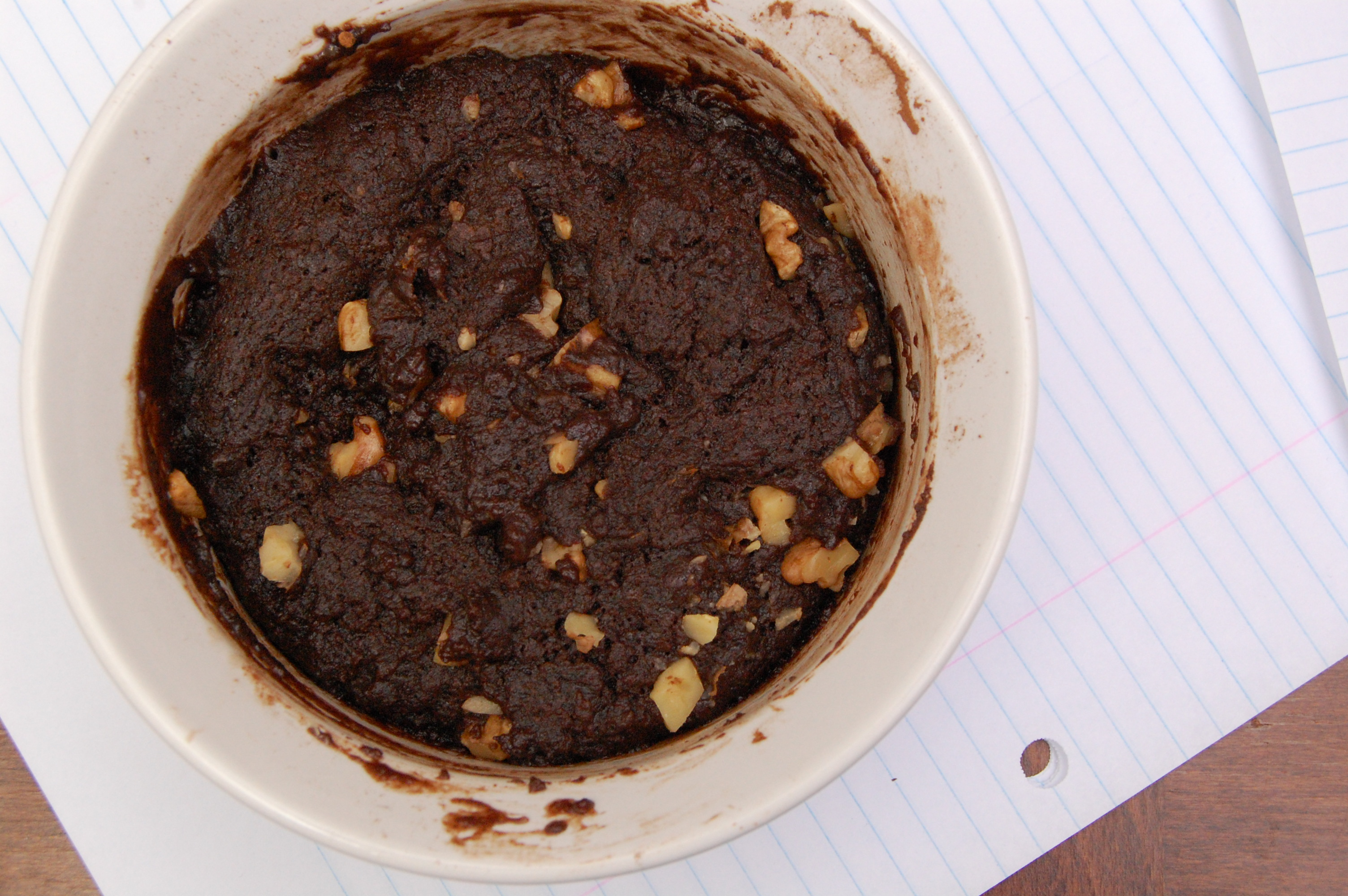 single serve chocolate fudge brownie with walnuts